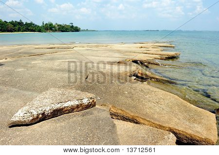 Shell fossils beach, Krabi province, Thailand