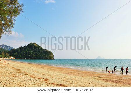 Famous Limestone Cliffs Of Krabi Bay