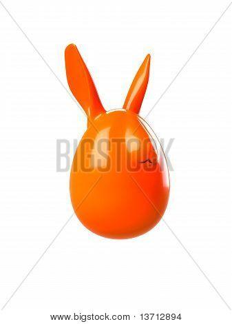 Easter Egg Bunny on white