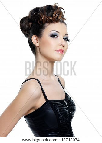 Beautiful Woman With Modern Hairstyle