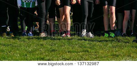 Legs Of Running Kids