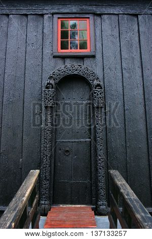 Door Of The Lom Stave Church