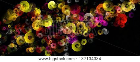 Fantastic Elegant Panorama Circle Background Design Illustration