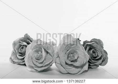 black and white roses card  condolence Background