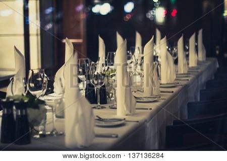 Decorated Dinner Table  - Ambient Restaurant Concept