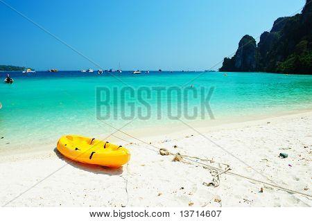 Kayak On The Tropical Beach, Phi-phi Don Island