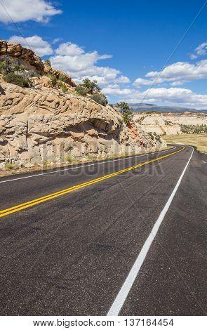 Scenic byway 12 near Boulder in Utah USA