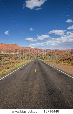 Highway 12 south of Torrey and Capitol Reef in Utah USA