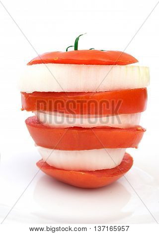 Fresh Sliced Tomato And Onion