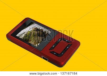 odtwarzacz MP4 z ładowaniem przez port USB zdjęcie zrobione 16.05.2009 r. w Wielkiej BrytaniiMP4 Player with USB charging photo taken on 16.05.2009 in Great Britain