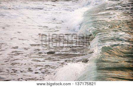 Colorful Ocean Wave from Kahana, Maui, Hawaii