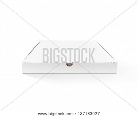 Blank pizza box design mock up top view isolated. Carton packaging pizza box delivery clear mockup. Carton pizza box branding template. Ready for branding identity logo presentation.