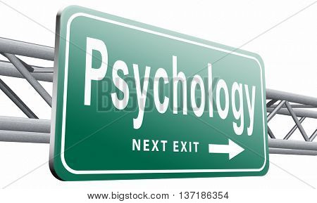 psychology psycho therapy for mental health against depression trauma, phobia schizophrenia, 3D illustration, isolated on white background poster