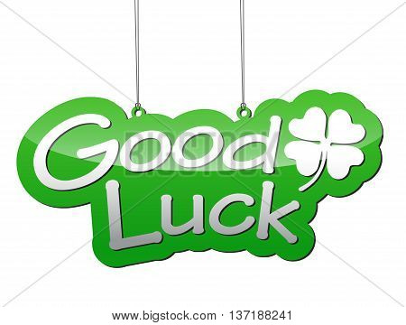 This is green vector background good luck with icon cloverleaf