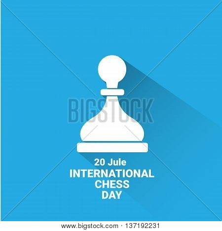 international chess day background or poster. vector chess day banner. vector chessman