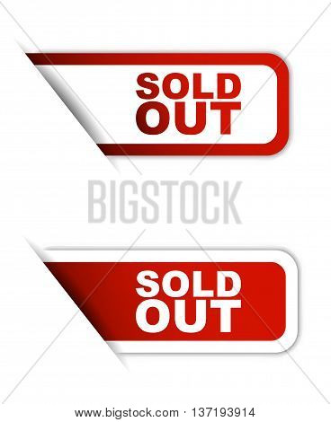 This is red paper vector element sticker sold out in two variant