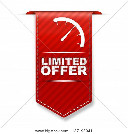 This is red vector banner design limited offer