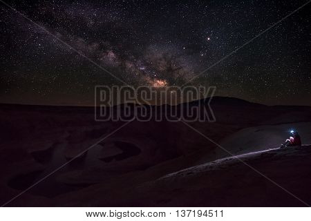 Clear Bright Night Over Lake Powell