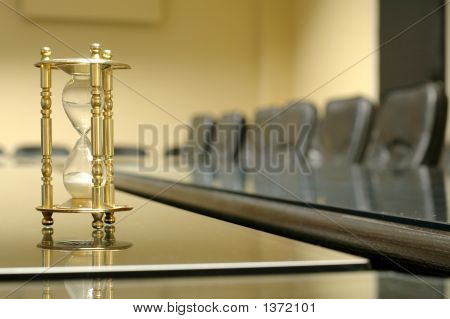 Sand Clock In The Empty Board,Conference Room
