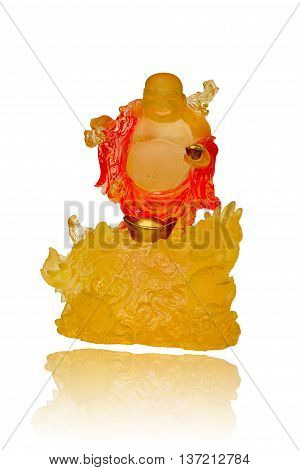 Gautama Buddha or Katyayana or Kasennen on white background.