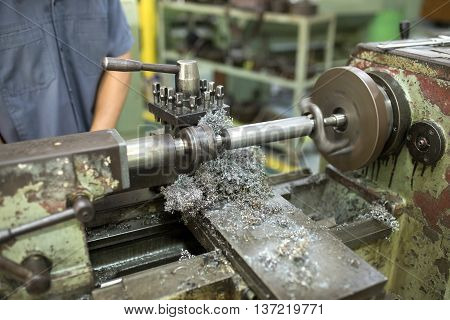 lathe works for lathe in the factory