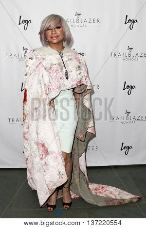 NEW YORK-JUN 25: Actress Raven Symone attends Logo TV's