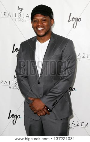 NEW YORK-JUN 25: MTV personality Sway attends Logo TV's