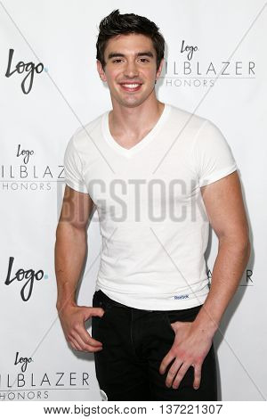 NEW YORK-JUN 25: Musician Steve Grand attends Logo TV's