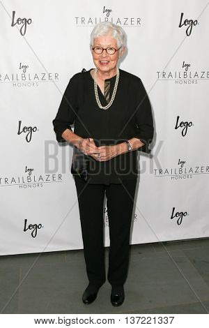 NEW YORK-JUN 25: Betty DeGeneres attends Logo TV's