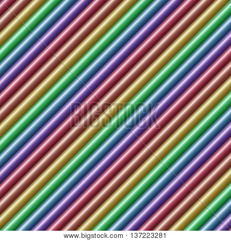 Diagonal multicolored tube background texture seamlessly tileable
