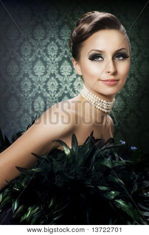 Beautiful Luxury Girl.Romantic Beauty Portrait
