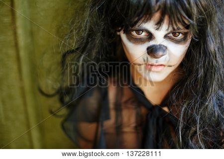 Sulky Halloween girl