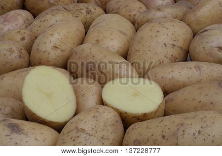 cut potato on top of the other