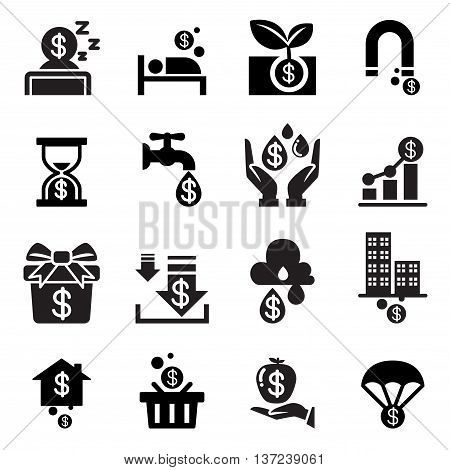Passive income icon  Vector illustration Graphic design