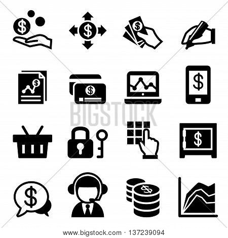 Mobile banking icon set vector illustration graphic design