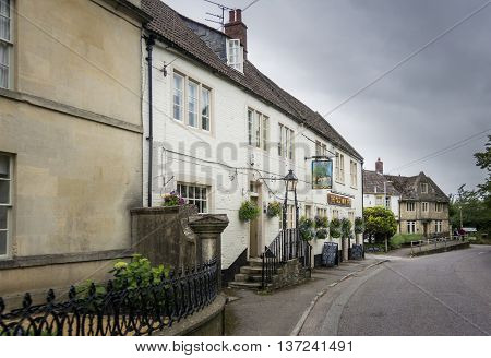 HOLT, WILTSHIRE, UK, 21 JUNE 2016 - The Old Ham Tree public house in the village of Holt Wiltshire UK