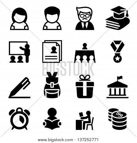 Scholarship school high school University icon Vector illustration Graphic design