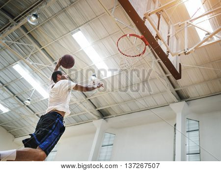 Coach Athlete Basketball Bounce Sport Concept