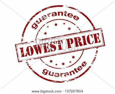 Rubber stamp with text lowest price guarantee inside vector illustration