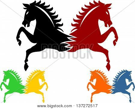 stock logo twins horse for industry business