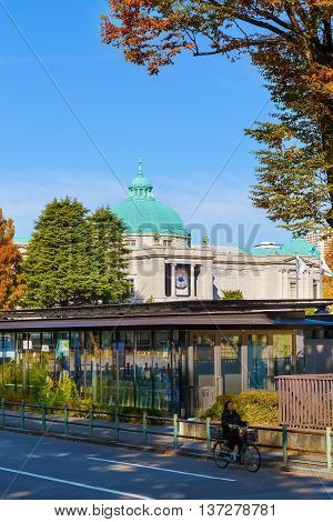 TOKYO, JAPAN - NOVEMBER 29 2015: Tokyo National Museum established in 1872,  the oldest Japanese national museum, the largest art museum in Japan and one of the largest art museums in the world