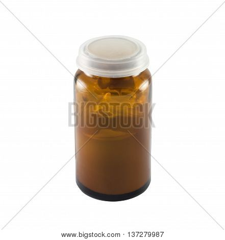 A small jar of ointment on a white background.