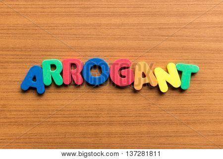 Arrogant Colorful Word