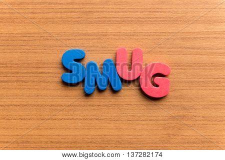 Smug Colorful Word