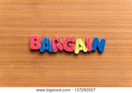 Bargain Colorful Word