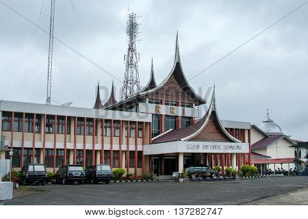 BUKITTINGGI INDONESIA - AUG 04: Office Radio Republik Indonesia in BukittinggiIndonesia on Aug 04 2011. Radio Republik Indonesia (RRI) is the state radio network of Indonesia.