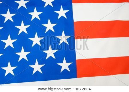 American flag a over white back ground poster