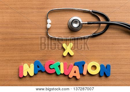 X Inactivation Colorful Word With Stethoscope