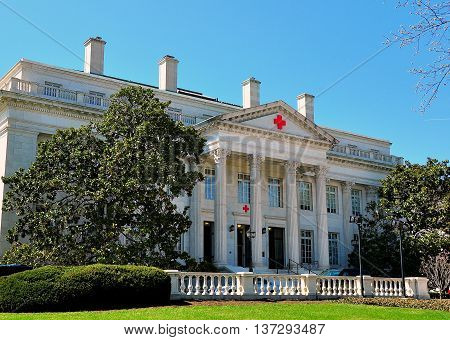 Washington DC - April 10 2014: The American Red Cross Building on 17th Street NW *