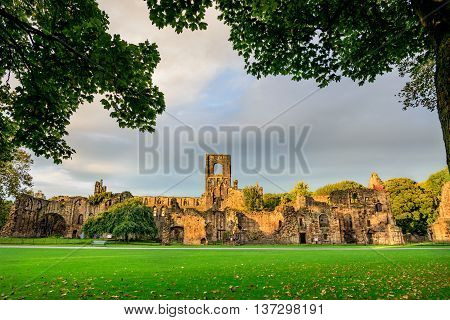 Kirkstall Abbey is a ruined Cistercian monastery in Kirkstall north-west of Leeds city center in West Yorkshire England.